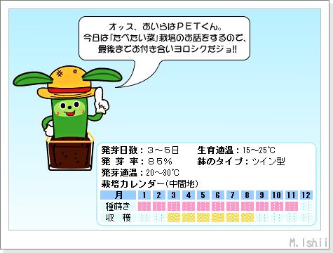 ペット栽培III(たべたい菜)01