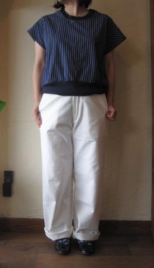 artepovera ワイドパンツホワイト