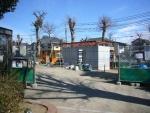 宮前公園の公衆トイレが工事中