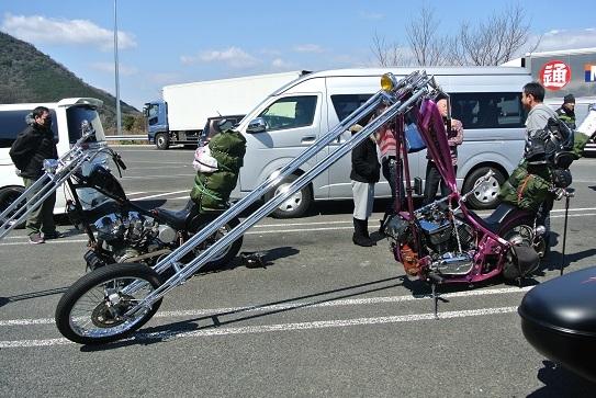 4チョッパー型バイク