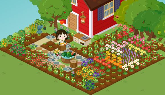$アメーバピグ 桃の庭♪