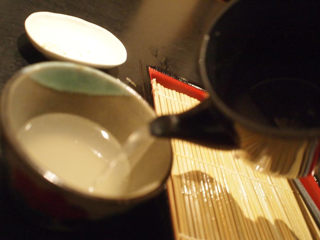 蕎麦湯イン