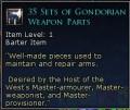 set of gondorian weapon parts