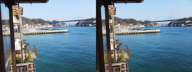 料亭旅館 魚信 須磨の間からの尾道水道⑥(交差法)