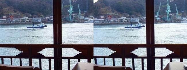 料亭旅館 魚信 須磨の間からの尾道水道③(平行法)