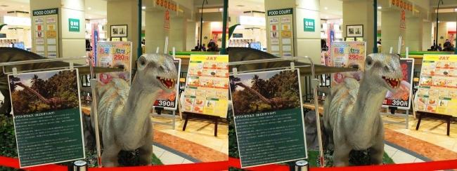 イオン東大阪店 恐竜ロボット アパトサウルス(平行法)