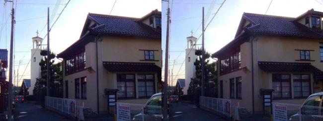 アンドリュース記念館・近江八幡教会(交差法)