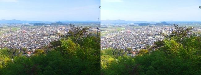 八幡山山頂 展望館③(平行法)