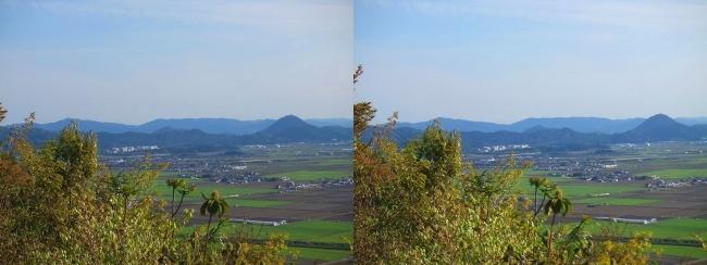 八幡山山頂 西の丸跡⑥(平行法)
