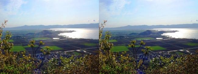 八幡山山頂 西の丸跡②(平行法)