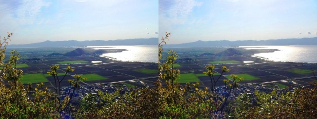 八幡山山頂 西の丸跡②(交差法)