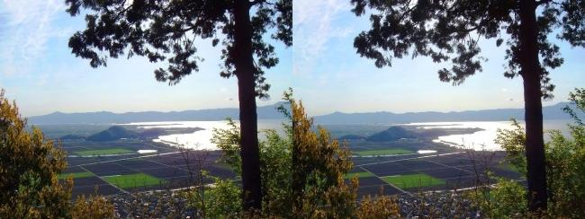 八幡山山頂 西の丸跡①(交差法)