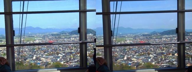 八幡山ロープウェー③(交差法)