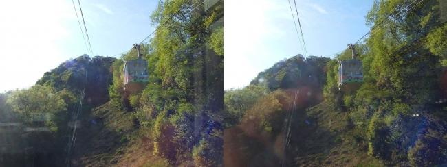 八幡山ロープウェー②(交差法)