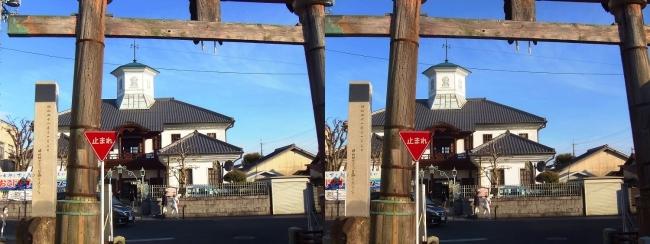 日牟禮八幡宮 鳥居・白雲館(交差法)