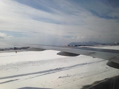雪の滑走路