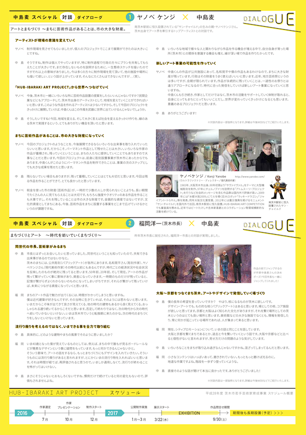 HUB IBARAKI ART PROJECT裏2中島麦nakajimamugi