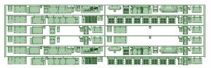 6000系床下機器 6013F 8連【武蔵模型工房 Nゲージ 鉄道模型】