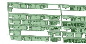 6000系床下機器 6014F_6024F 8連【武蔵模型工房 Nゲージ 鉄道模型】-2