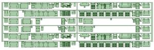 6000系床下機器 6015F 8連【武蔵模型工房 Nゲージ 鉄道模型】