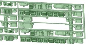 6000系床下機器 6015F 8連【武蔵模型工房 Nゲージ 鉄道模型】-1