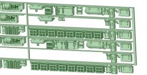 6000系床下機器 6025_6026F 6連【武蔵模型工房 Nゲージ 鉄道模型】-1