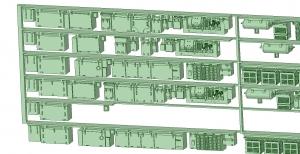 6000系床下機器 6025_6026F 6連【武蔵模型工房 Nゲージ 鉄道模型】-2