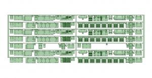6000系床下機器 神戸線初期タイプ 8連【武蔵模型工房 Nゲージ 鉄道模型】
