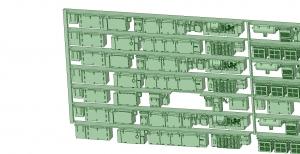 6000系床下機器 神戸線初期タイプ 8連【武蔵模型工房 Nゲージ 鉄道模型】-2