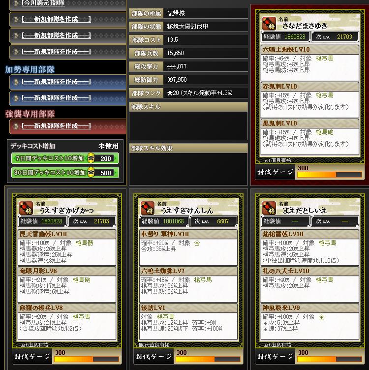 20170424180345部隊編成 - 戦国IXA