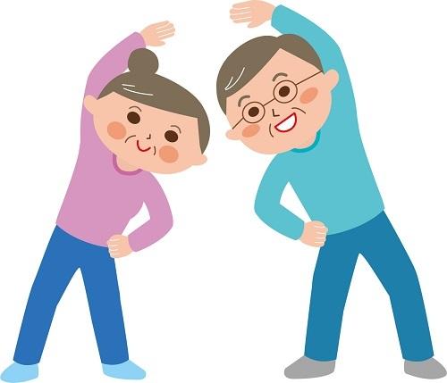 中高年夫婦ラジオ体操