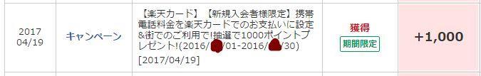 楽天C当選20170419