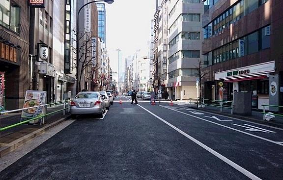 東京マラソン道路規制の朝