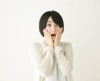 驚く日本人女性