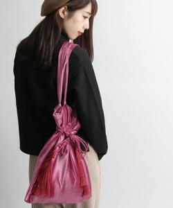 ベロア巾着バッグ