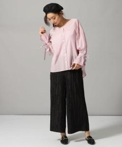 ストライプVシャツ2