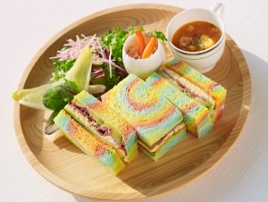 Easter Rainbow Sandwich