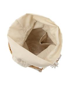 ラタンバケツ型バッグ2