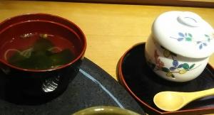 鮨処はぎ汁物と茶碗蒸し-1704