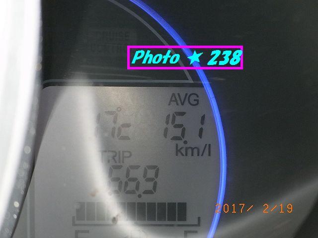 燃費が低下。