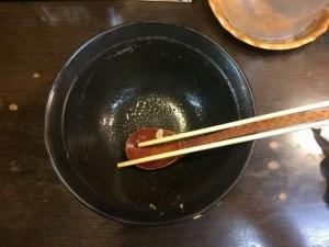 415日の出ラーメンの醤油豚骨*お汁まで完食