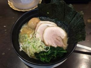 503日の出ラーメンの醤油豚骨!(^^)!美味!(^^)!