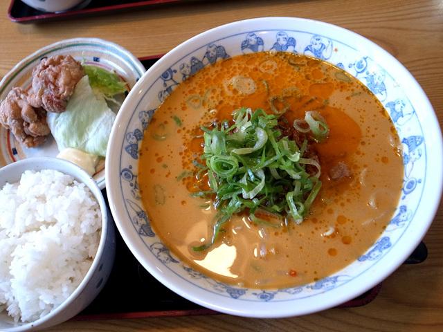 タンタン麺ミニ唐揚げセット