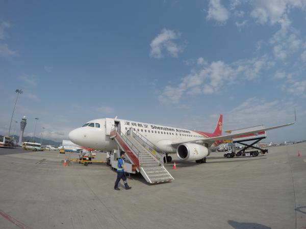 中国出張0405_飛行機