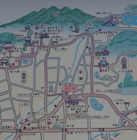 5西塩田・別所温泉案内マップ2手塚地区クローズアップ