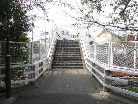 東急東横線の稲荷橋@東京都目黒区f