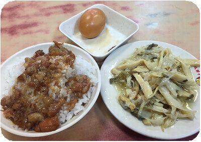 雙胖子滷肉飯セット