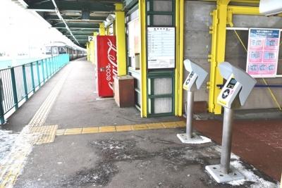 北海道医療大学駅2番線ホーム