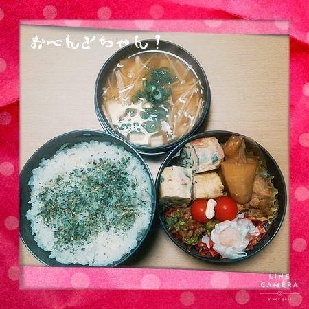 ★2月20日(土)手羽元とじゃがいもの煮物弁当1