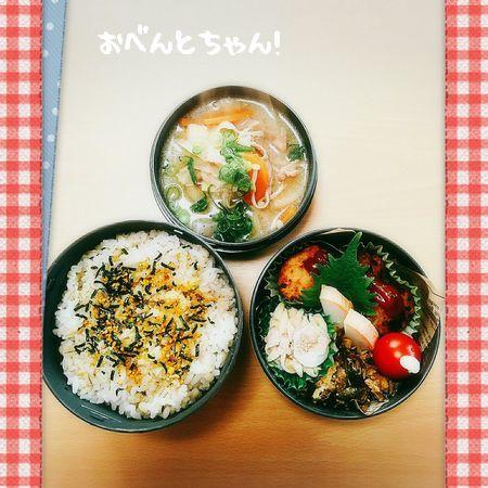 ★3月28日(火)ミニハンバーグと豚汁弁当